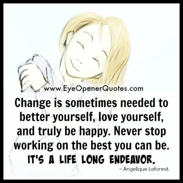 Change is sometimes needed