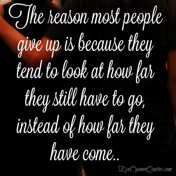 The reason most people give up
