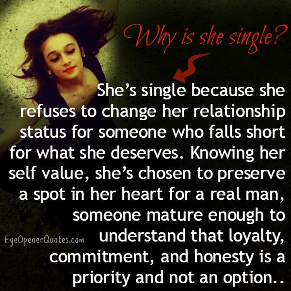 Why some woman remain single?