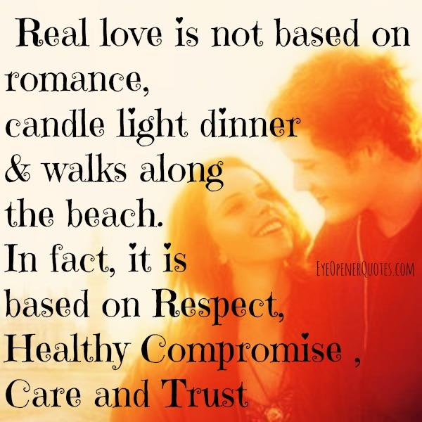 What a Real love is based on?