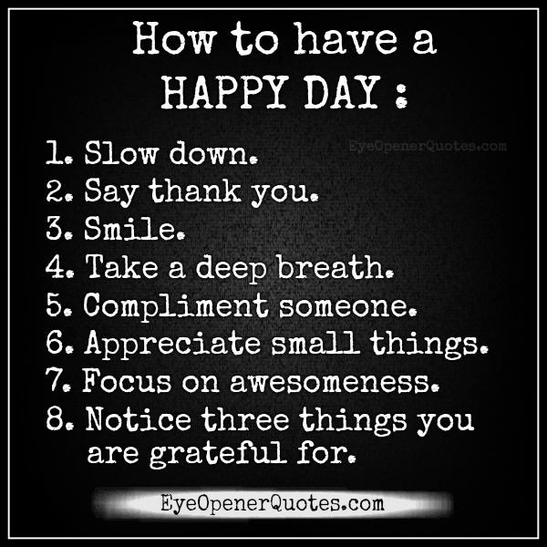 how-to-have-a-happy-day